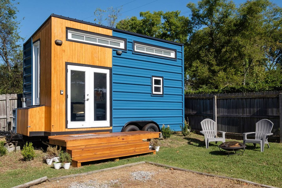 This tiny house is gorgeous and you can stay in it for Minimalist house on wheels