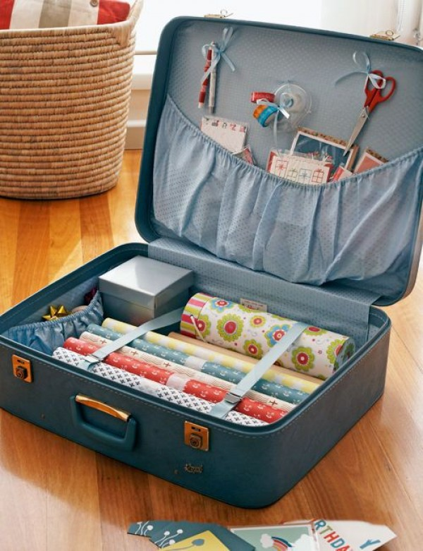 suitcase storage hack