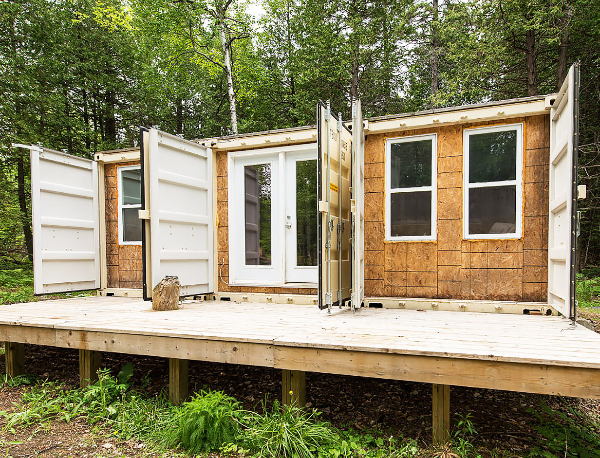 Tiny Home Designs: Off Grid Shipping Container Home Built For $20000. The