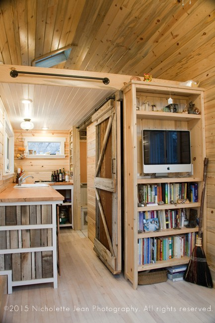 rustic tiny house on wheels