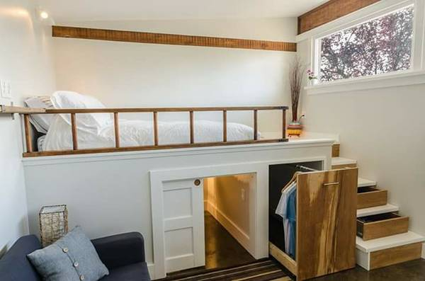 vancouver tiny house sleeping area