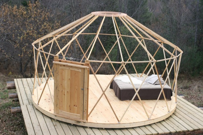 yurt building frame