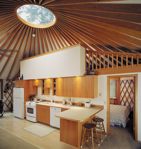 Yurt with kitchen