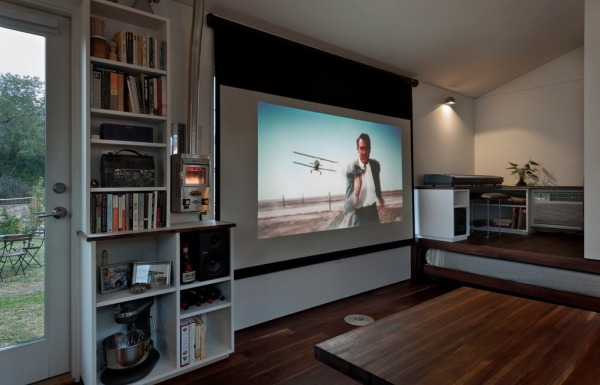Minim tiny house projector screen