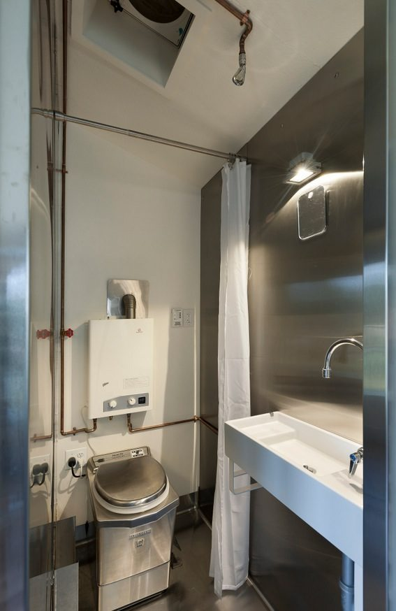 Minim tiny house bathroom