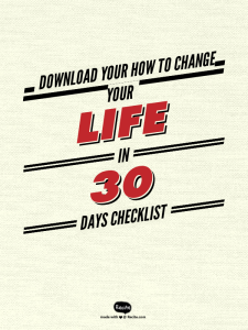 How to change your life in 30 days checklist
