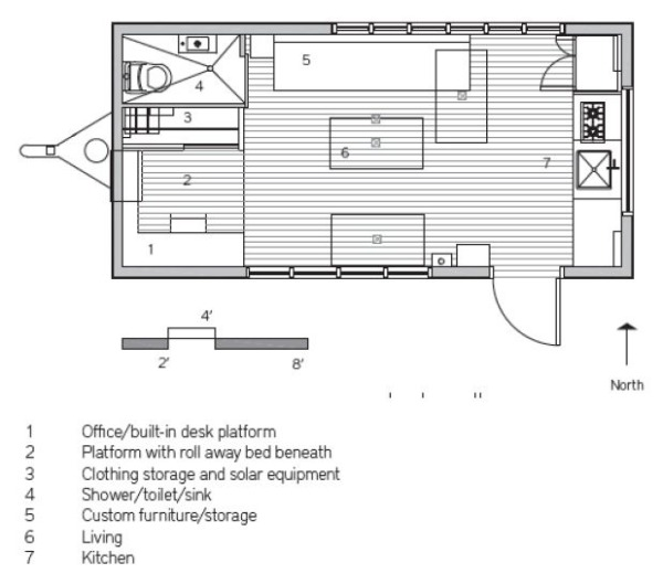 Minim Tiny House floor plan