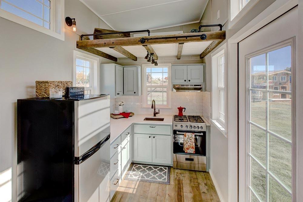 Tiny house kitchen space