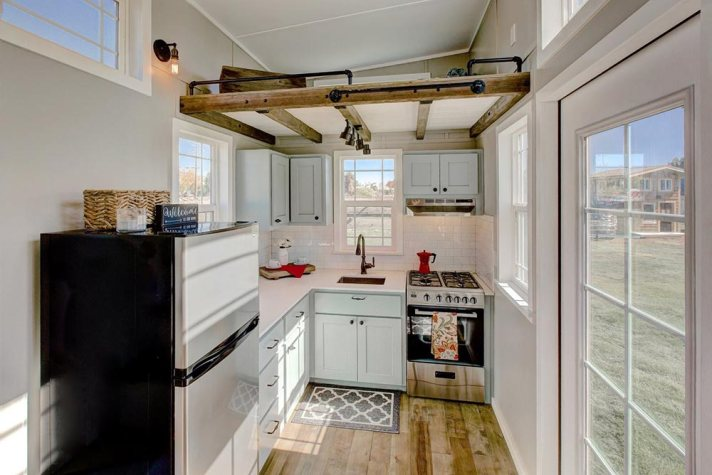 Tiny house kitchen space