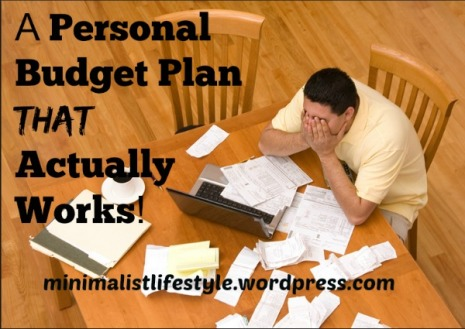 Personal Budget Plan That Works