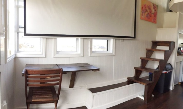 tiny solar house living space
