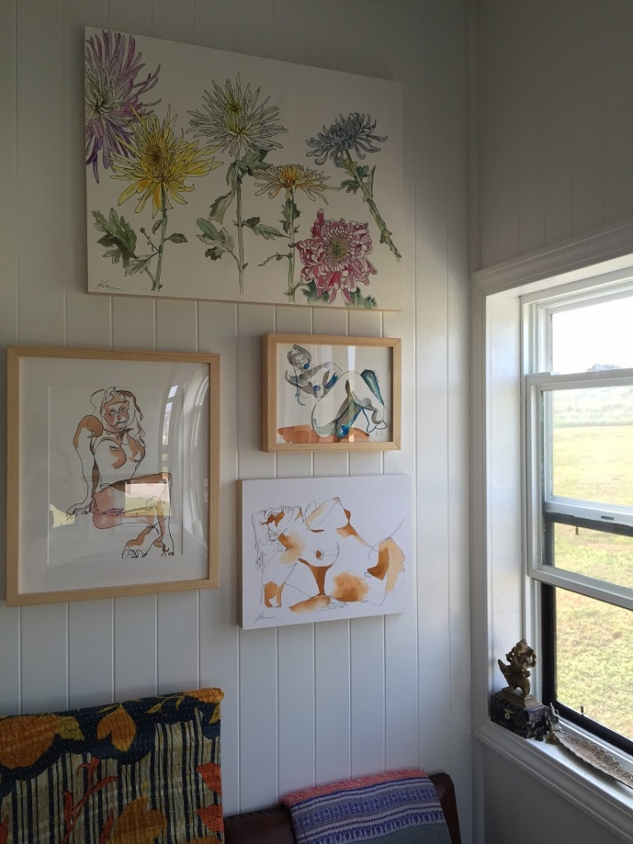 tiny house living room art