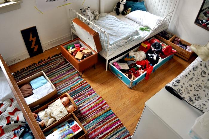 how to declutter kids bedroom
