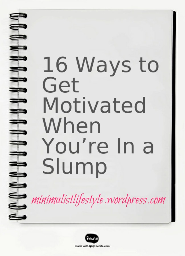 ways to get motivated