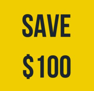 save 100 dollars this week