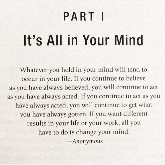 It is all in your mind