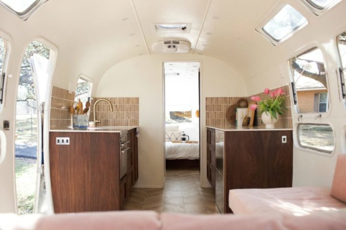 Amazing Airstream Renovation Change The Code Amazing Airstream Interior Design Minimalist