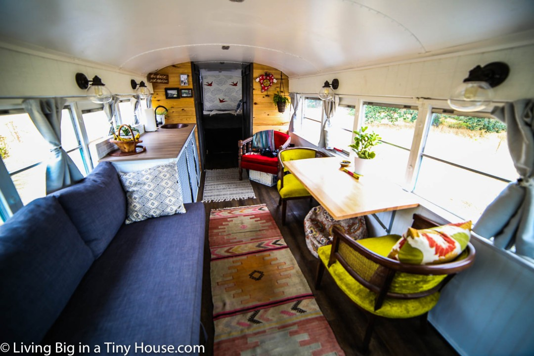 how to convert school bus to tiny home
